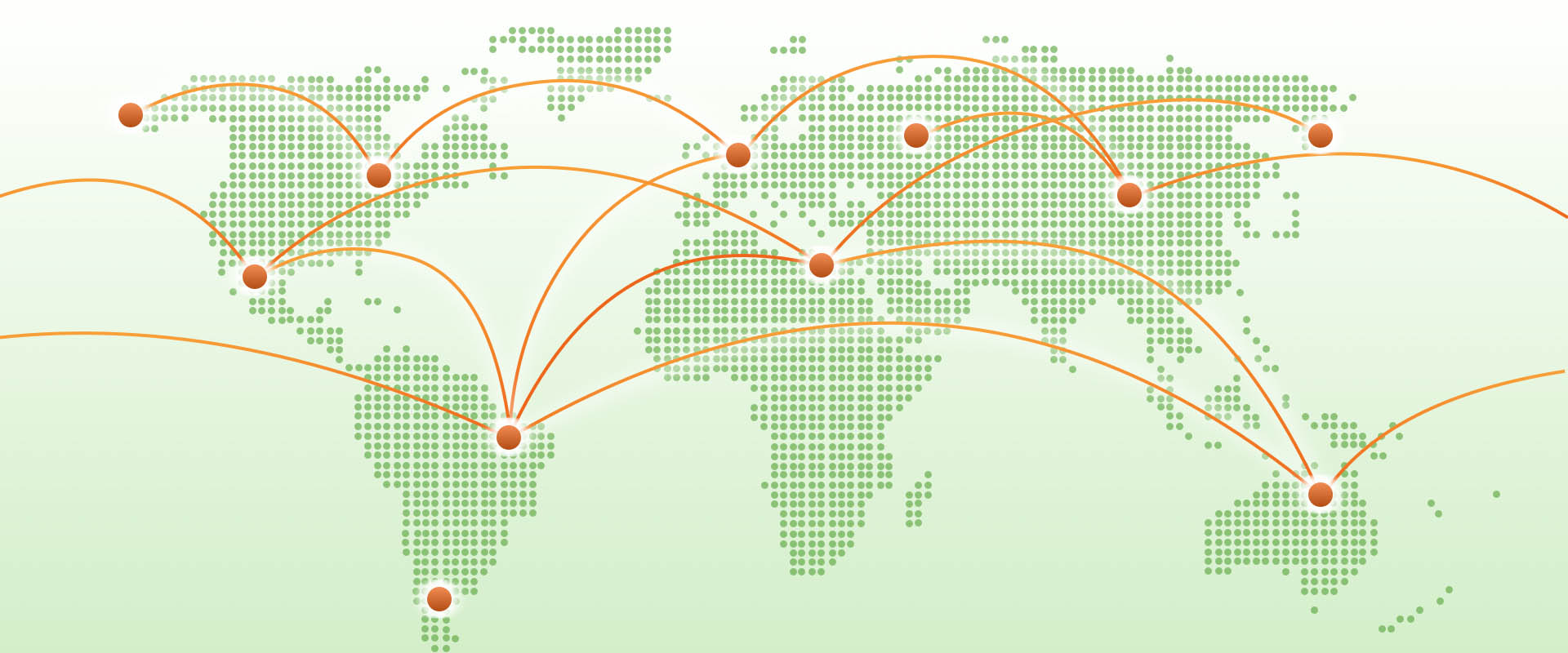Illustration showing the global connections of the internet through Web 3.0