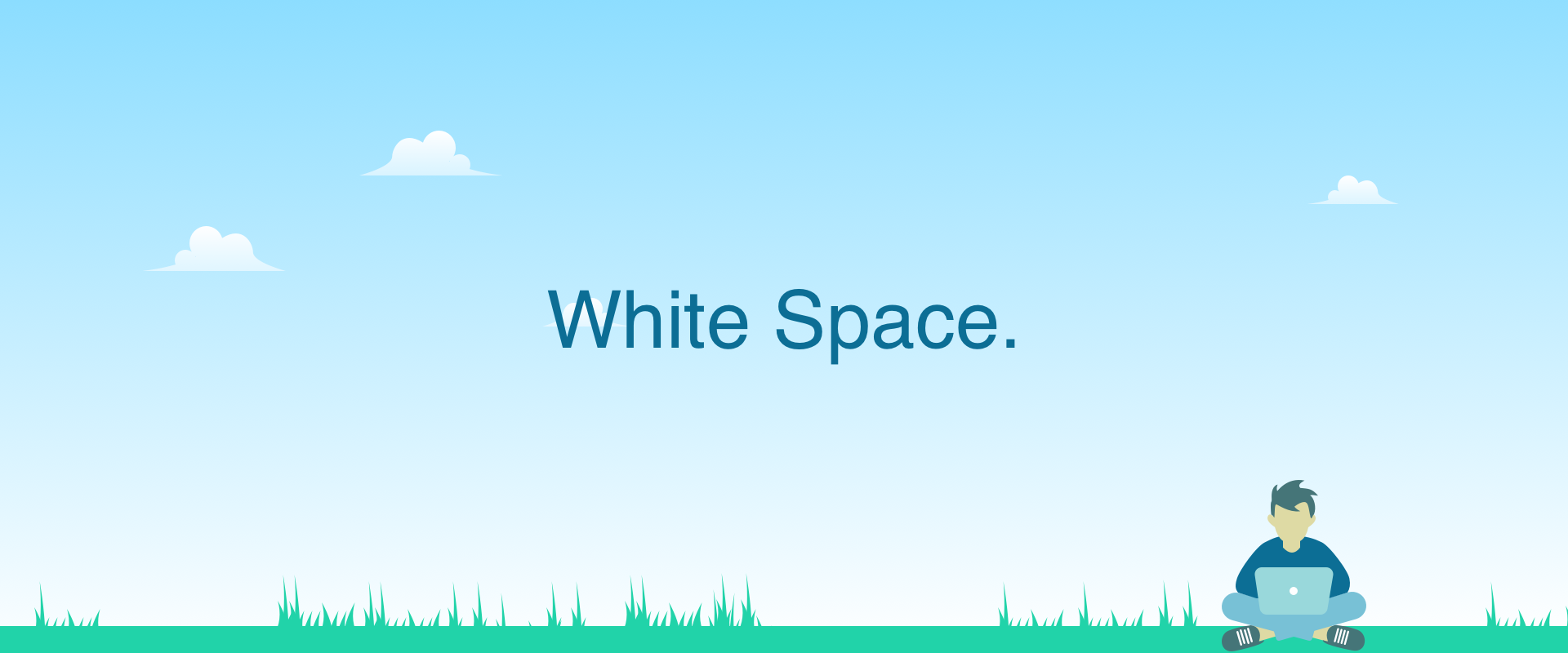 Illustration representing whitespace