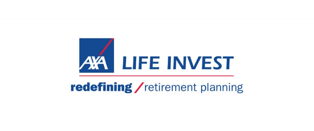 Axa life invest, redefining, retirement planning logo
