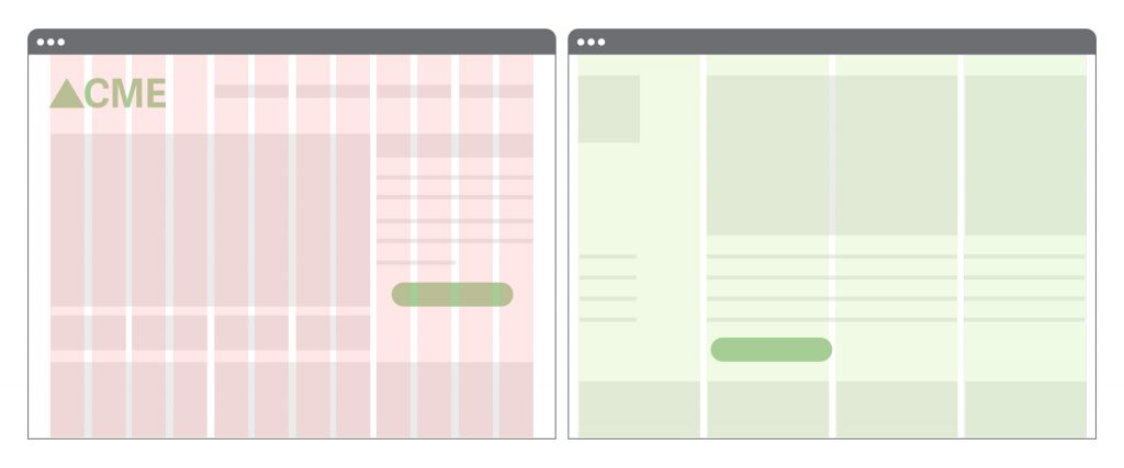 Two examples of Grid layouts from a website.