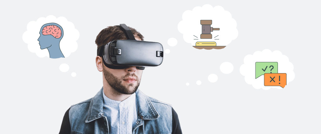 Virtual reality can be used to improve peoples quality of life. Mental health, law and languages are a few examples of how this technology can be used.